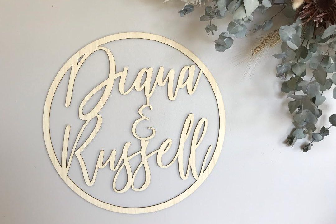 wooden wedding signage adelaide