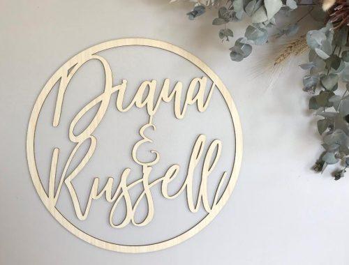 wooden wedding signage adelaide