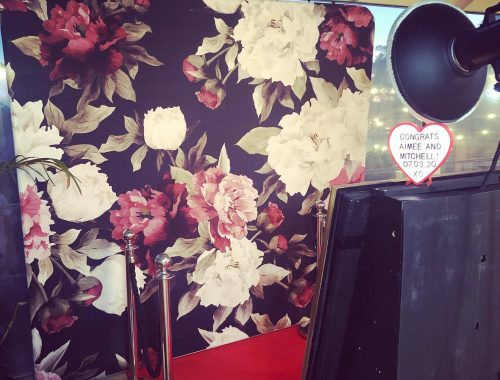 adelaide rose wall photobooth hire